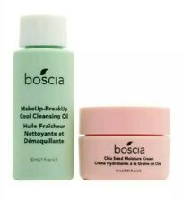 BOSCIA Chia Seed Moisture Cream + MakeUp-BreakUp Cool Cleansing Oil Mini Set Lot