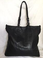 ba8d164327 Large GIANNI CHIARINI Black Leather Tote/Shoulder Bag / Handbag, Made In  Italy