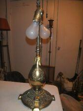 "Stunning Rare & Unusual Signed Bradley & Hubbard Antique Lamp Base 22"" Tall"