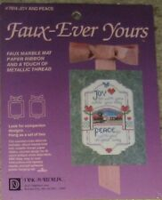 """Faux-Ever Yours #7814 """"Joy and Peace"""" Counted Cross-Stitch  Kit 5""""X7"""" NIP"""