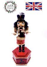 "Handmade Musical Drummer Boy Christmas Nutcracker 12"" High Festive Ornament"