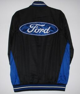 Ford  Racing Black Embroidered Nylon Jacket New JH Design  3XL