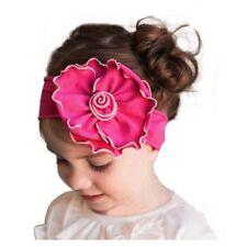 Baby Kinder Stirnband große Blume Haarband Mädchen Haarschmuck Fuchsia pink rosa