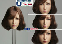 "1/6 Asian Female MOVABLE EYES Head Sculpt A For 12"" PHICEN Hot Toys Figure USA"
