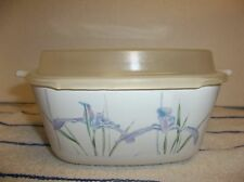 Corning Ware SHADOW IRIS Casserole PETITE PAN P-43-B 700ml WITH PLASTIC LID NICE