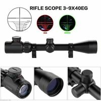 3-9x40 EG Red/Green Sniper Hunting Air Rifle Gun Optics Scope 20mm Rail Mount