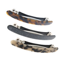 2pcs Vintage Leopard Acrylic Spring French Hair Barrette Hair Clip Accessory