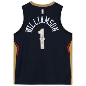Zion WIlliamson Signed Pelicans Navy Nike Swingman Jersey Fanatics