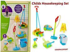 Kids CLEANING SET Vacuum Cleaner Broom Toddler Housekeeping Preschool School Lot