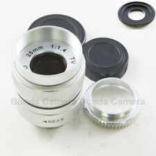 25mm f/1.4 C Mount CCTV Lens for Fujifilm Finepix X-Pro1 X-E1 FX + macro ring