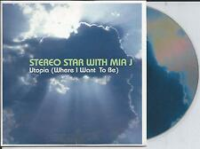 STEREO STAR with MIA J - Utopia (Where i want to be) CD SINGLE 5TR Euro House