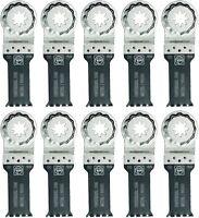 """Fein 63502151290 E-Cut Universal Oscillating Blades, 2-3/8"""" x 1-1/8"""", 10-Pack"""