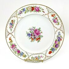 Rosenthal Selb Bavaria Floral and Gold Dinner Plate China Porcelain 10 3/4""