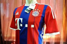 Bayern Munchen Shirt Home 2014-2015, sz Large *Adult (New) with Vynil, RARE