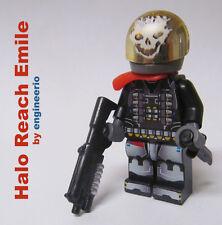 LEGO Custom PRINTED Minifigure Halo Reach Emile Sniper Army Military Space