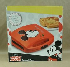 Disney Mickey Mouse Dual Sandwich Maker Non Stick Toasted Print Brand New