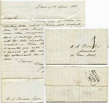 Scotland EDINBURGH LOCAL POST 1d 1833 FINE COVER+LETTER