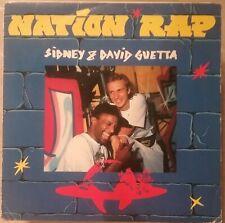 RARE 45t 7'' SIDNEY ET DAVID GUETTA NATION RAP FRENCH ISLAND 1990 BE+