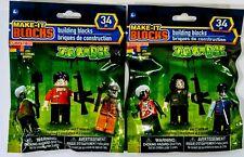 MAKE IT BLOCKS ZOMBIE Minifigures MEGA CONSTRUX LEGO w AR-15 Gun, Weapons