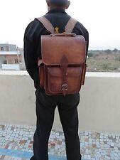 """Real Leather 13"""" Macbook Pro Air Backpack Laptop Rucksack Shoulder Book Bag"""