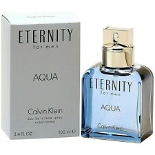 Eternity Aqua by Calvin Klein 3.4 oz / 100 ml EDT Cologne for Men  * AUTHENTIC *