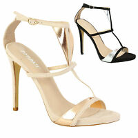 Women's Peep Toe Strappy Platform Stiletto Ladies High Heel Sandal Girls Shoes