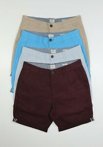 Mens Ex Uk Chain Store Chino Shorts Trouser Casual 100% Cotton Pant