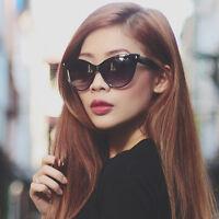 Women Fashion Sunglasses Black Cat Eye Mohotani Celebrity Retro Vintage Style