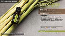 Doterra Lemongrass Essential Oil + Bonus Roller Bottle & Nasal Inhaler Stick