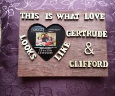 """New Personalized Wedding Gift For Couples, Wedding Frame, Wooden Name Sign 7""""x7"""""""