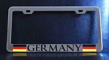 Germany German Flag Chrome Plated Metal License Plate Frame
