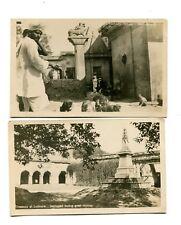 Vintage Advertising Trade Card DE POTTER TOURS 1910 India Lucknow Benares