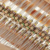 600pcs 30 Values 1/4W 5% Carbon Film Resistors Resistance Assortment Kit Set