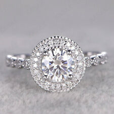 Womens Engagement Fancy Wedding Ring Christmas Special 1.00 Ct Round Diamond