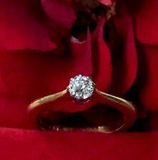 EXTRAVAGANT DESIGNT 0,4ct.LR Diamant-Goldring in 750er GuWG 4,4gr.Gr.18❤️❤️❤️