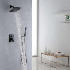 """Brass ORB Shower Set Bathroom Faucet Wall Mount 8"""" Rainfall Shower Head Diverter"""