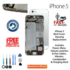 COMPLETE PRÉ ASSEMBLÉES Back Cover Housing Replacement for iPhone 5 Blanc/Argent