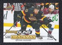 2019-20 Upper Deck #C211 Quinn Hughes Young Guns Canvas! Vancouver Canucks!