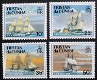 Ships of the Royal Navy, 1st series stamps 1990, Tristan da Cunha, Ref: 505-508