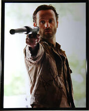 Signed The Walking Dead Autographed Andrew Lincoln 11X14 Photo Framed