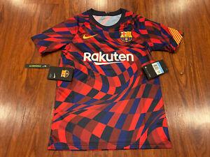 2020 Nike Youth FC Barcelona Pre Match Training Soccer Jersey Medium M Boys