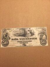 The Bank Of Winchester, Virginia $50