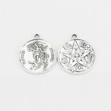 """""""Tetragrammaton&#034 ; Amulet Charms Pendants 5pcs Antique Silver """"SanMiguel Arcangel"""""""