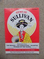Gemas de Sullivan volumen 1 Hojas Cancionero de música para piano y órgano