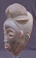 RARE BLACK PUNU AFRICAN MASK - GABON