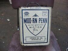MOTOR OIL CAN MODERN PENN COINER OIL CO WAYNESBORO VIRGINIA VA 8 QUART 2 GALLON