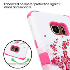 Samsung GALAXY S8 PLUS Hybrid ShockProof Rubber TPU Hard Case Cover Lace Flower