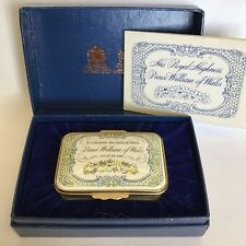 Halcyon Days Enamel Trinket Box 1981 Birth Of Prince Of Wales Boxed LTD 1000