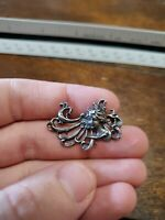 Marked Sterling silver female copyrighted women brooch pin