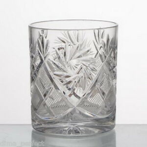 Set of 6 Old Fashioned Double Whiskey Scotch Rocks crystal glasses 5 fl.oz  NEW